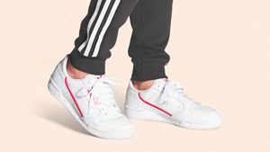 This Coral Pink Adidas Continental 80 Sneaker Exists And We Need It Asap