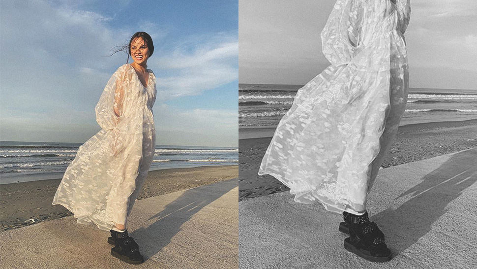 This Chic Bride Wore Cool Chunky Sandals On Her Wedding Day