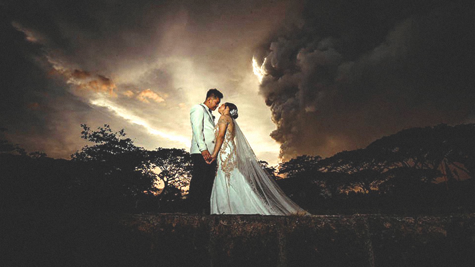 These Tagaytay Weddings Pushed Through Despite The Taal Volcano Eruption