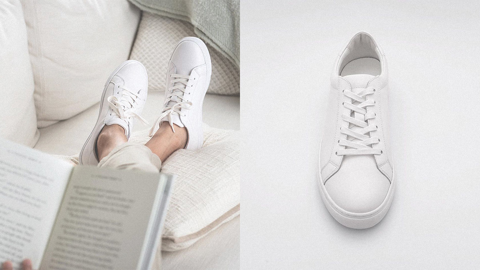 These Minimalist Leather Sneakers Will Be Your New Go-to Kicks