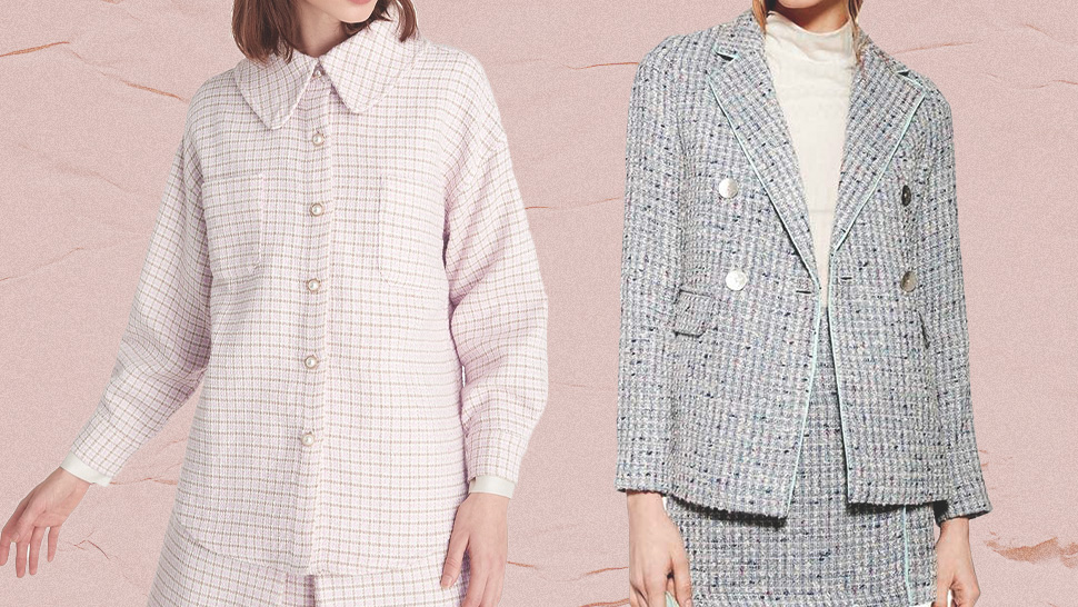 These Chic Tweed Jackets Will Upgrade Your Basic Office OOTDs