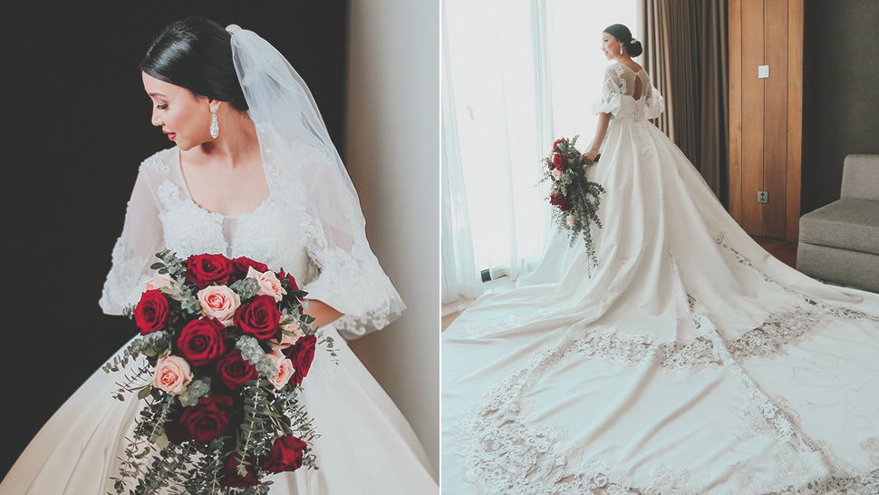 This Bride Saved a Lot of Money by Ordering Her Wedding Dress from Lazada