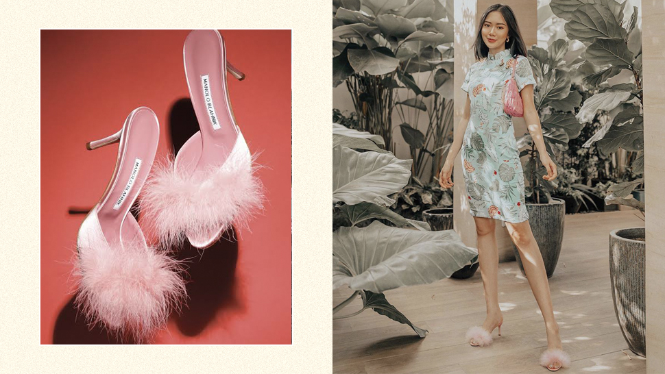 These Are The Exact Feathered Heels We'd Love To Cop From Camille Co's Closet