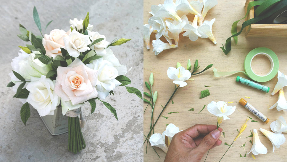 This Will Make You Want to Use Paper Flowers for Your Bridal Bouquet