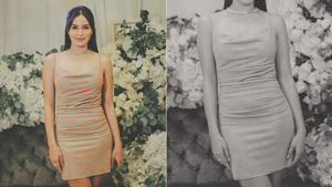 The Exact Neon Mini Dress Sarah Lahbati Wore To Her Second Bridal Shower