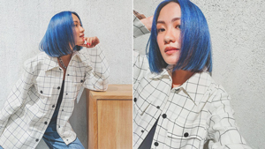 Laureen Uy Just Dyed Her Hair Blue And We Are Obsessed