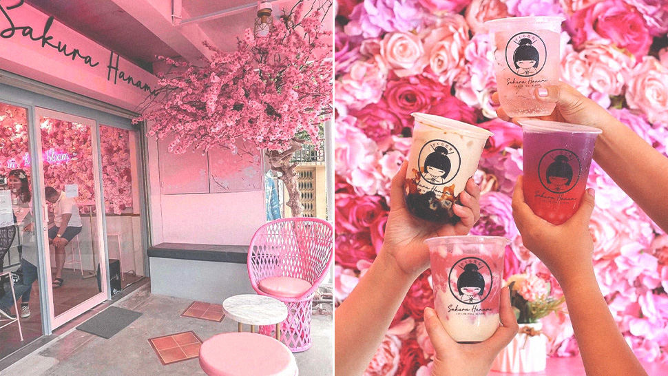 You Need to Visit This Cherry Blossom-Themed Milk Tea Shop ASAP