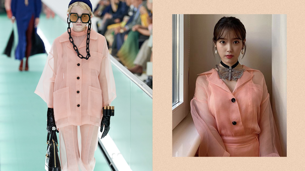 IU Looked Adorable at Milan Fashion Week in Head-to-Toe Gucci