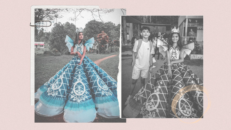 This Filipino Student Is Going Viral for the Prom Dress He Made for His Sister