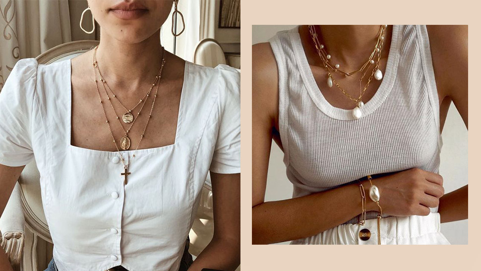 Here's What To Wear With Layered Necklaces For Your Next Ootd
