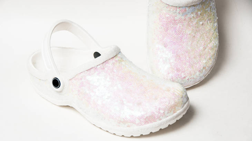 Would You Wear These Sequined Crocs on Your Wedding Day?