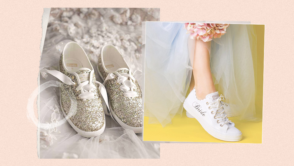 5 White Sneakers You Can Wear On Your Wedding Day