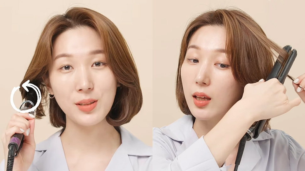 This Is the K-Beauty Way to Curl Short Hair, According to a Korean Hairstylist