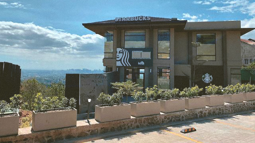 LOOK: This Starbucks in Antipolo Has a Spectacular View of Manila
