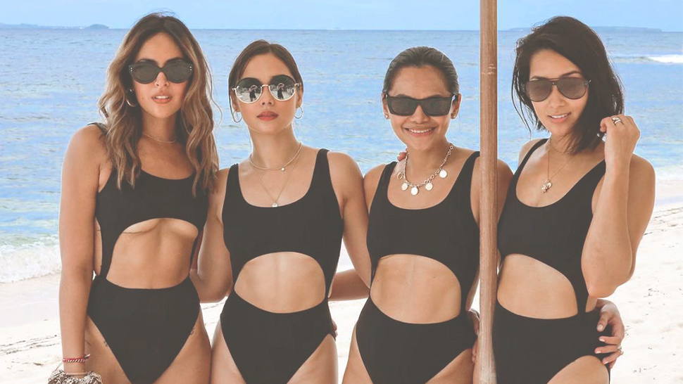 Everyone Wore Matching Swimsuits At Sarah Lahbati's Bachelorette Party In Siargao