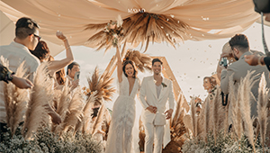 We Love Mica Javier's Dreamy Bridal Look For Her Beach Wedding With Jay-r