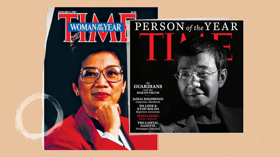 """Time's """"100 Women of the Year"""" Honors Maria Ressa and Cory Aquino"""