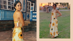 We Found The Exact Floral Dress Isabelle Daza Wore As A Wedding Guest