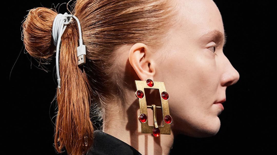 Balenciaga Is Trying to Make USB Cable Hair-Ties Happen