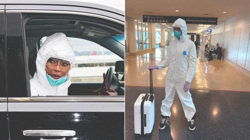 Naomi Campbell Is Breaking the Internet with Her Anti-Coronavirus Airport OOTD