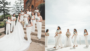This Bride Had Her Bridesmaids Wear White Jumpsuits For The Wedding