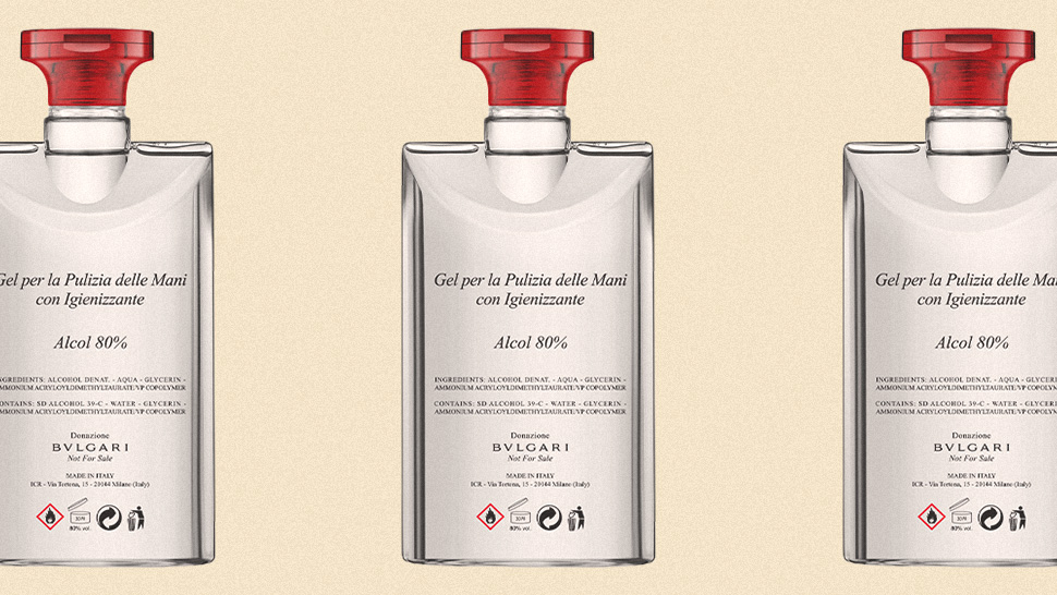 Bulgari Is Donating Thousands Of Bottled Hand Sanitizers To Italian Hospitals