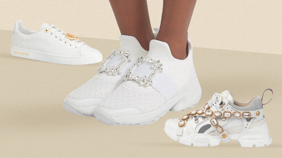 6 Pairs of Designer White Sneakers to Invest in for Your Wedding
