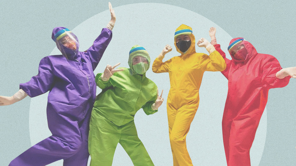 "This Designer Made ""Teletubbies-Themed"" PPE Suits for Iloilo Medical Frontliners"