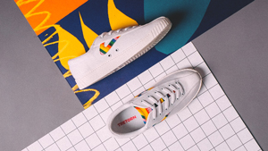 This Old-school White Sneaker Just Got A Pretty Rainbow Makeover