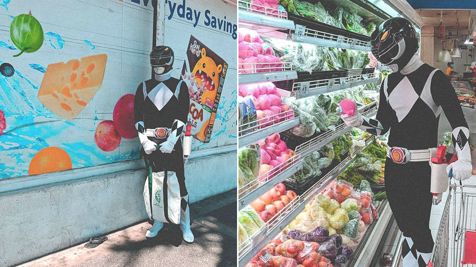 "This Netizen Is Going Viral for His ""Power Rangers"" Costume While Grocery Shopping"