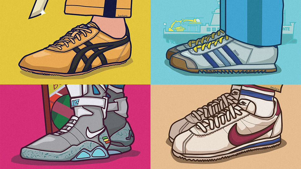 You Have to See These Illustrations of Iconic Sneakers in Movie History