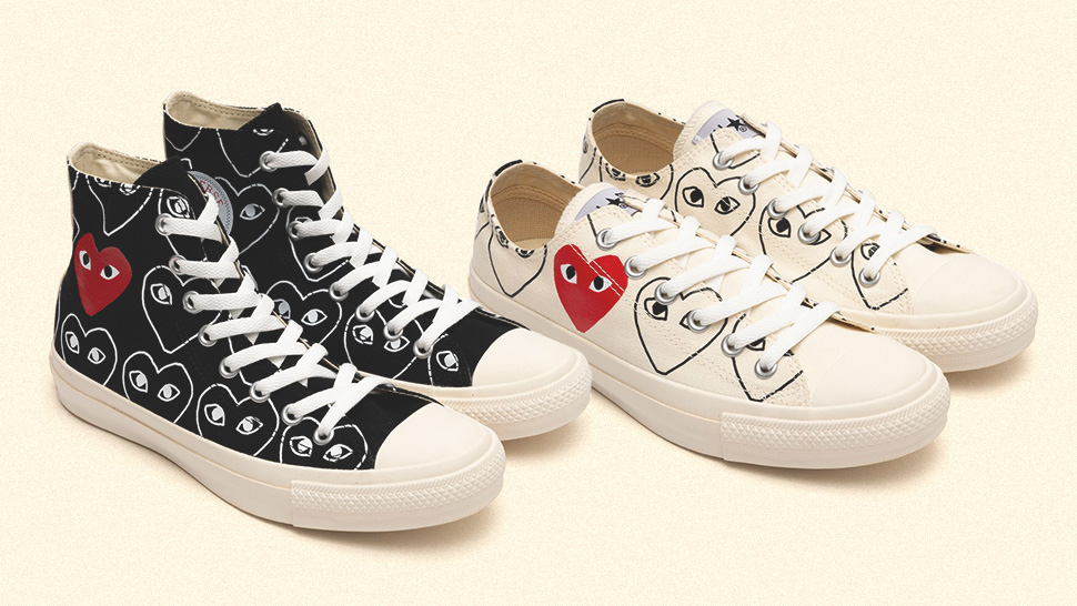 The Newest Comme Des Garçons Play X Converse Collab Might Be The Best One Yet