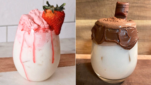 Move Over, Dalgona Coffee: Whipped Strawberry Milk And Nutella Are The New Thing