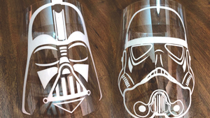 Star Wars-themed Face Shields Might Be The Coolest Thing You'll See Today