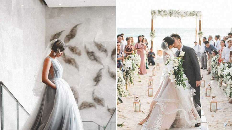These Real Brides Will Convince You To Consider Colored Wedding Gowns