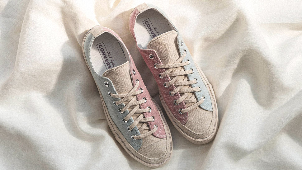 These Pastel Converse Sneakers Are Actually Made from Canvas Scraps
