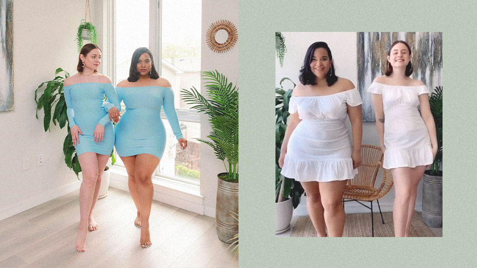 These Besties Have Gone Viral on TikTok for Their Body-Positive Fashion Videos