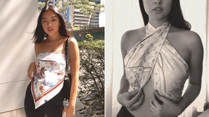 5 Ways To Style A Scarf As A Top, According To Rei Germar