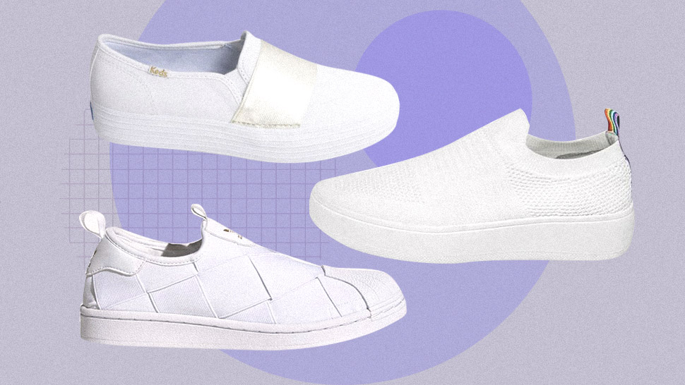 These White Slip-on Sneakers Are Perfect For Casual Days