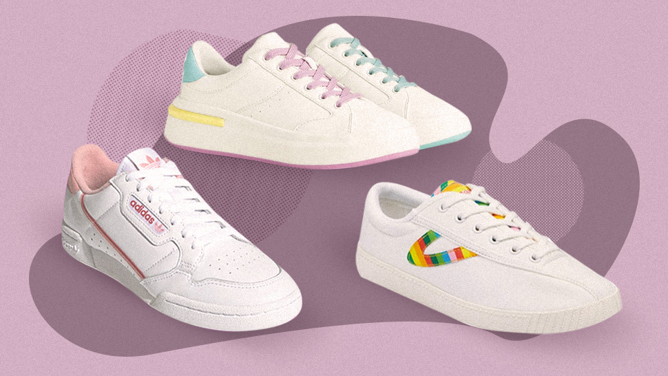 The Cutest White Sneakers With Subtle Accents To Add To Your Shoe Collection