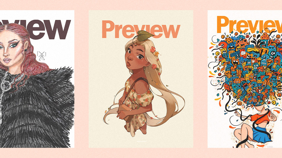 This Illustrator Started a Preview Cover Challenge on Social Media