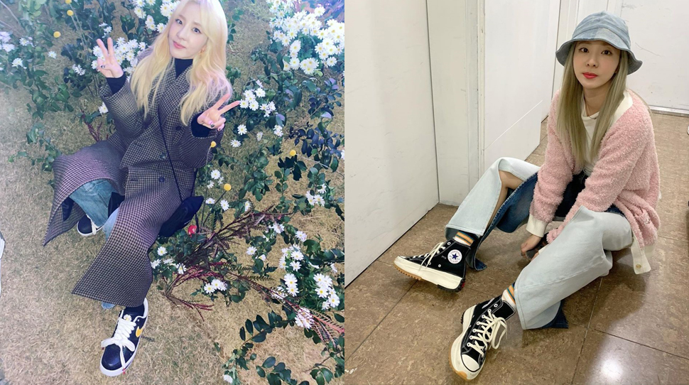 These Are the Exact Sneakers Sandara Park Loves Wearing in Her OOTDs