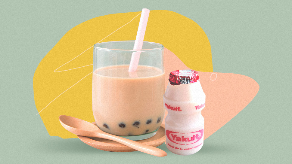 You'll Get The Best Of Both Worlds With This Easy Yakult Milk Tea Recipe