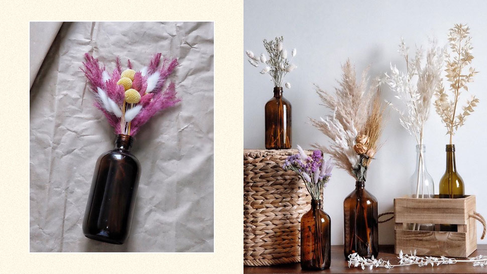 Pretty Dried Floral Arrangements For Your Home Office