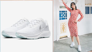 Minimalist White Running Shoes You Can Wear With Your Dresses