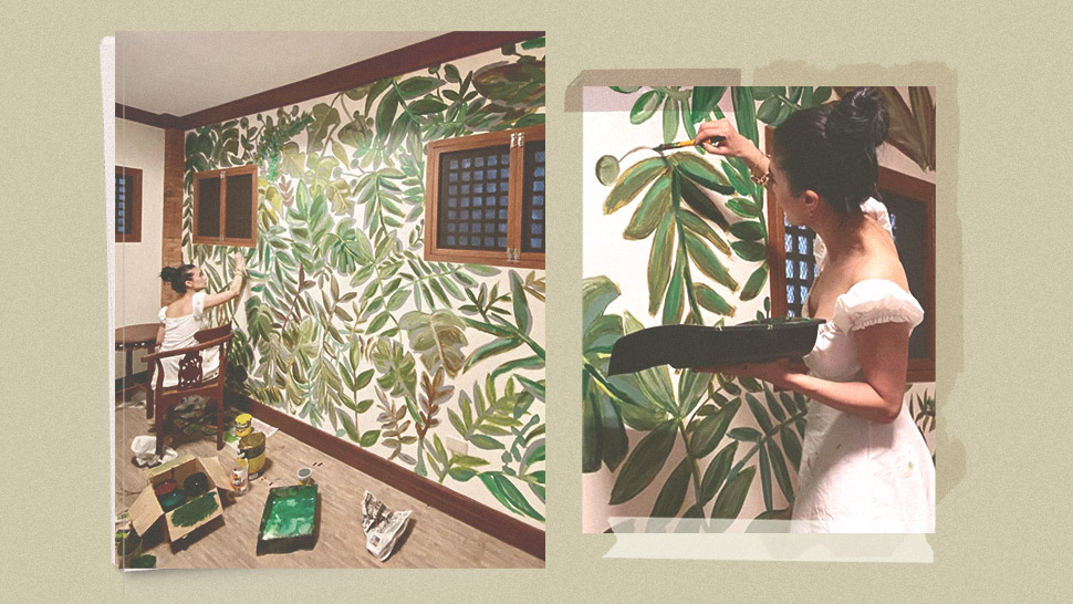 You Have to See How Heart Evangelista Transformed a Bedroom Wall Into a Gorgeous Mural