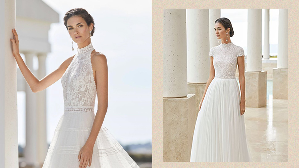 10 High Neck Wedding Dresses For The Modern Bride