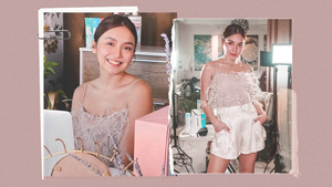 We're In Love With Kathryn Bernardo's Dainty Blush Pink Ootd At Home
