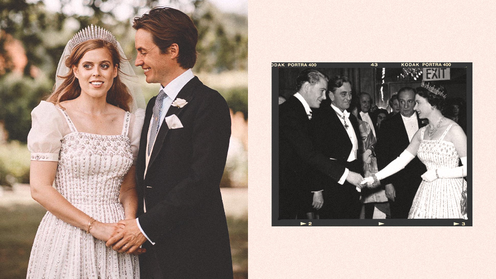Princess Beatrice Got Married in an Upcycled Gown Borrowed from the Queen