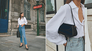 10 White Button-down And Jeans Outfit Combos That Always Look Fresh